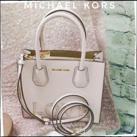 5235ae0505eae0 Michael Kors Bags | Nwt Nude Love Mercer Saffiano Bag | Poshmark